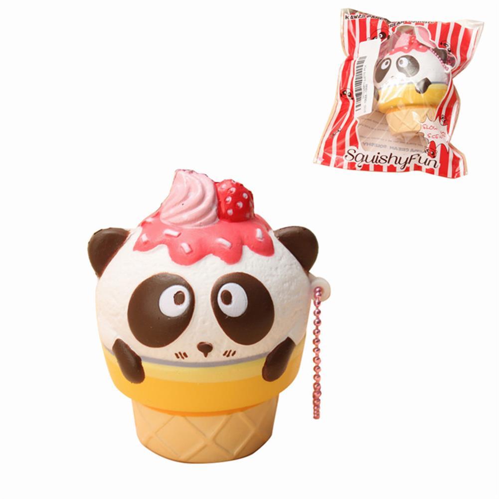 squishy-toys 10PCS Wholesale SquishyFun Cute Panda Cream Super Slow Rising Squishy Original Packing Ball Chain Kid Toy HOB1377741