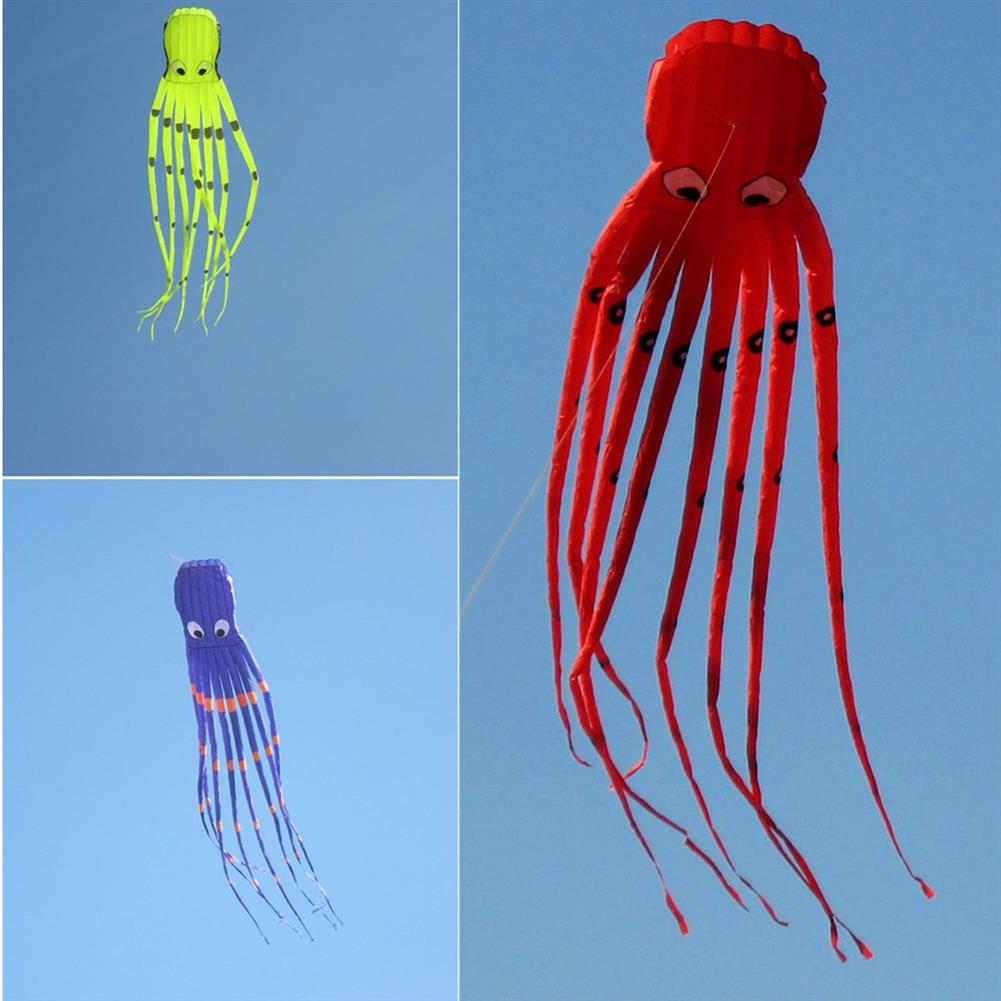 plane-parachute-toys 35inches Octopus Kite Outdoor Sports Toys for Kids Single Line Parachute Toys HOB1378526