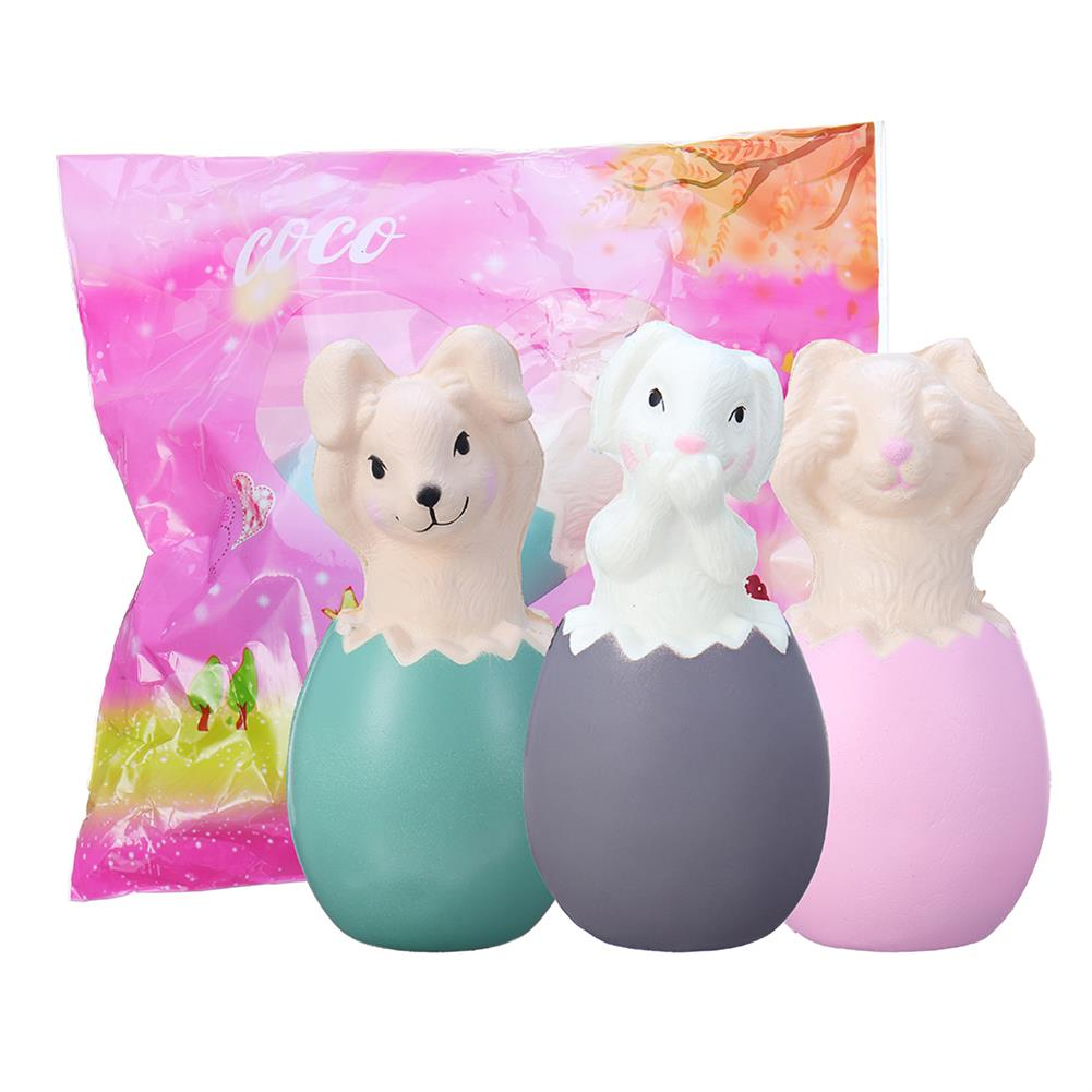 squishy-toys 13CM Squishy Rabbit Bunny Eggs with Fancy Bag Christmas Gift Squeeze Toy HOB1379246