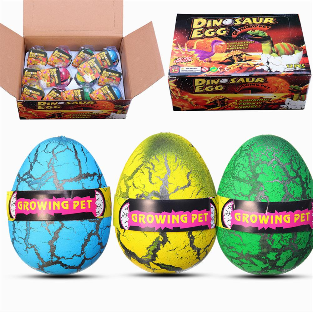 novelties 12PCS Huge 6cm Dinosaur Egg Package Wholesale Hatching Growing Magic Water Novelties Toys with Box HOB1379316