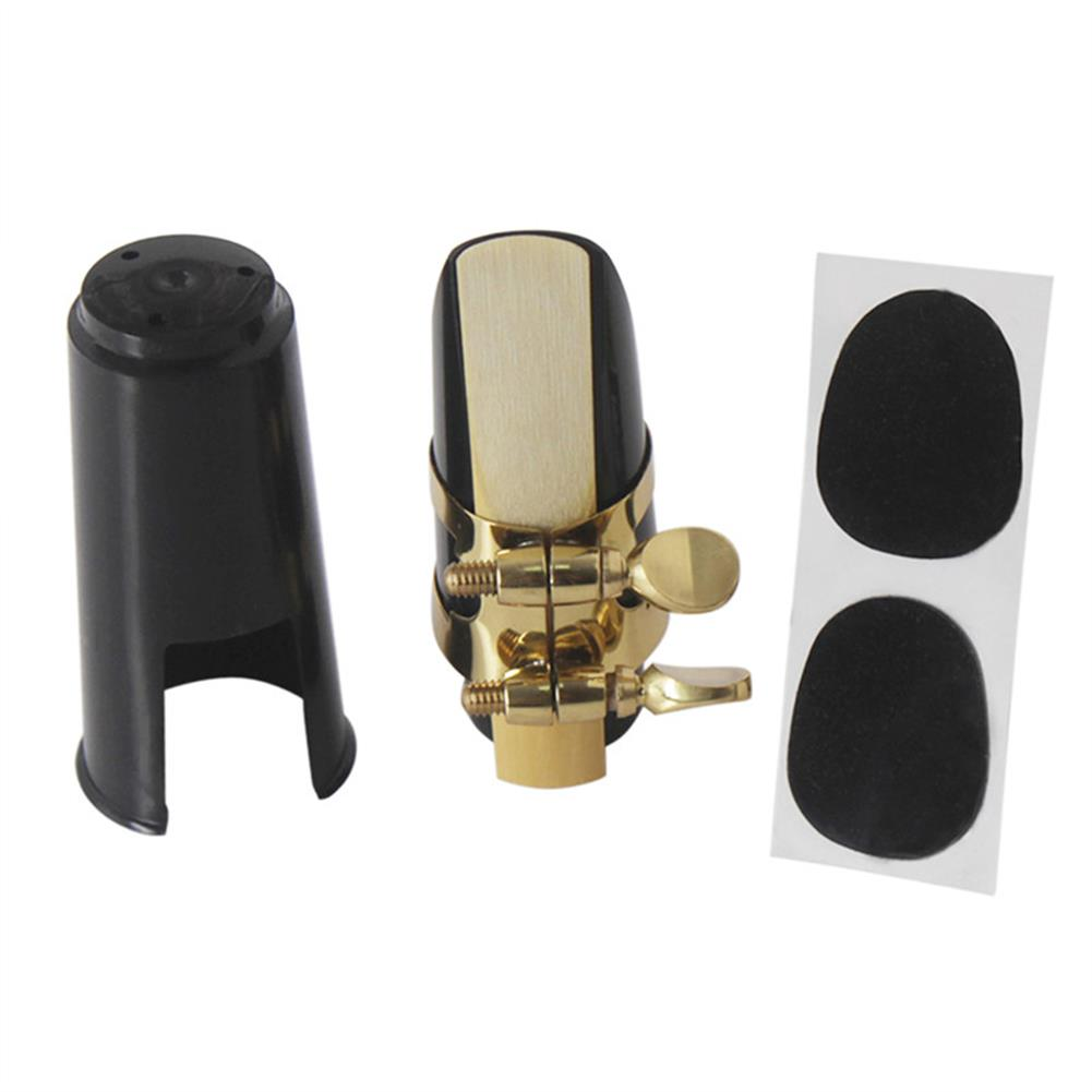 woodwind-brass-accessories Soprano Saxophone Mouthpiece Plastic with Cap Metal Buckle Reeds Mouthpiece Patches Pads Cushions HOB1385656 1
