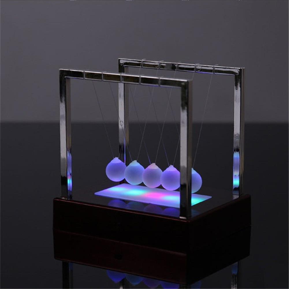 science-discovery-toys STEM Nightlight 15cm Upgrade Cradle Steel Balance Ball Physics Pendulum Toys HOB1386167