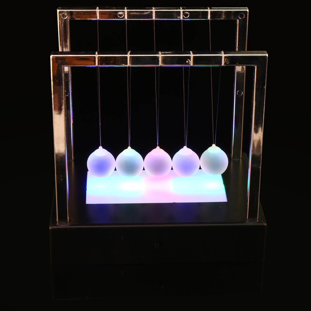 science-discovery-toys STEM Nightlight 15cm Upgrade Cradle Steel Balance Ball Physics Pendulum Toys HOB1386167 2