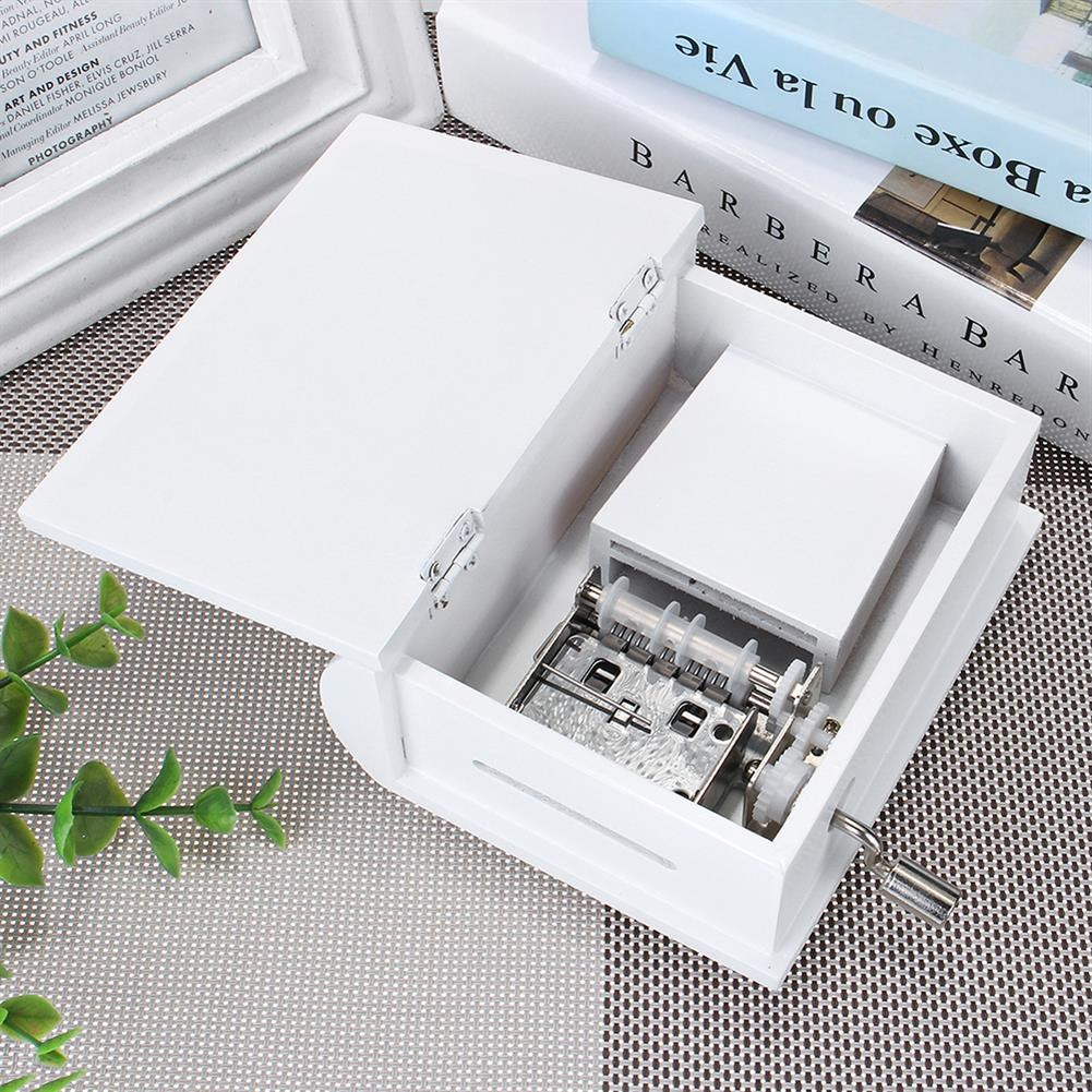 music-box 15 Tone DIY Hand Cranked Books Type Music Box with Hole Puncher And Paper Tapes HOB1390394 1