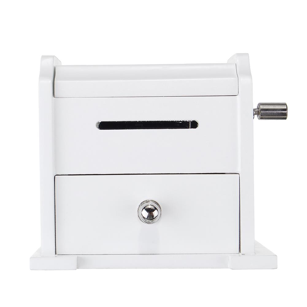 music-box 15 Tone DIY Hand Cranked Bookcase Music Box with Hole Puncher 30 Pcs Paper Tapes HOB1392500