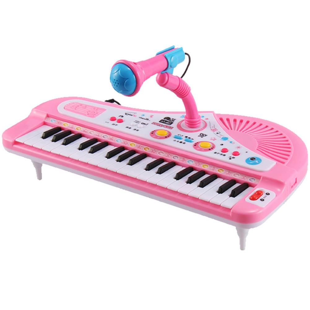 electronic-keyboards 37 Key Kids Electronic Keyboard Piano Musical Toy with Microphone for Children's Toys HOB1396913