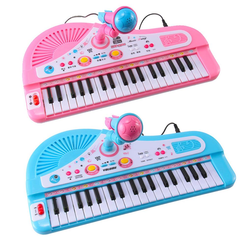 electronic-keyboards 37 Key Kids Electronic Keyboard Piano Musical Toy with Microphone for Children's Toys HOB1396913 1