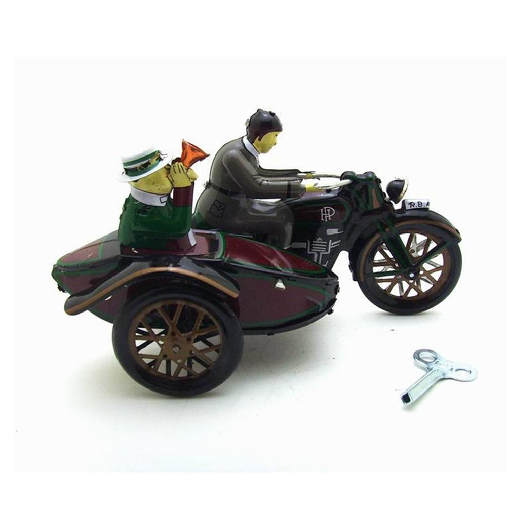 wind-up-tin-toys Motorcycle with Passenger in Sidecar Retro Clockwork Wind Up Tin Toys with Box HOB1399548 1