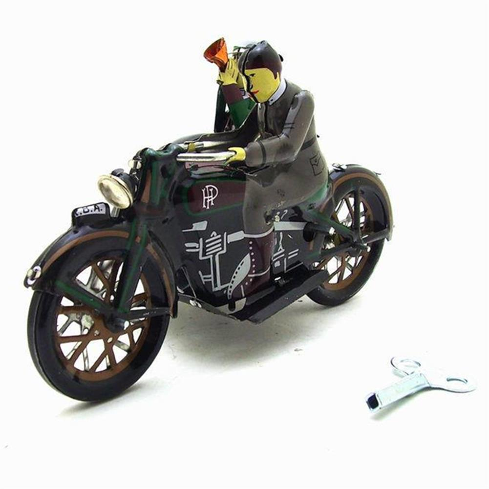 wind-up-tin-toys Motorcycle with Passenger in Sidecar Retro Clockwork Wind Up Tin Toys with Box HOB1399548 2