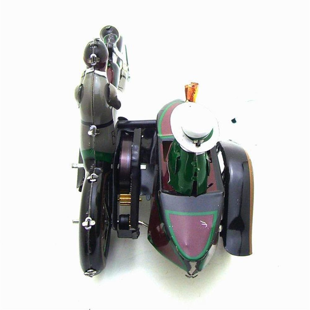 wind-up-tin-toys Motorcycle with Passenger in Sidecar Retro Clockwork Wind Up Tin Toys with Box HOB1399548 3