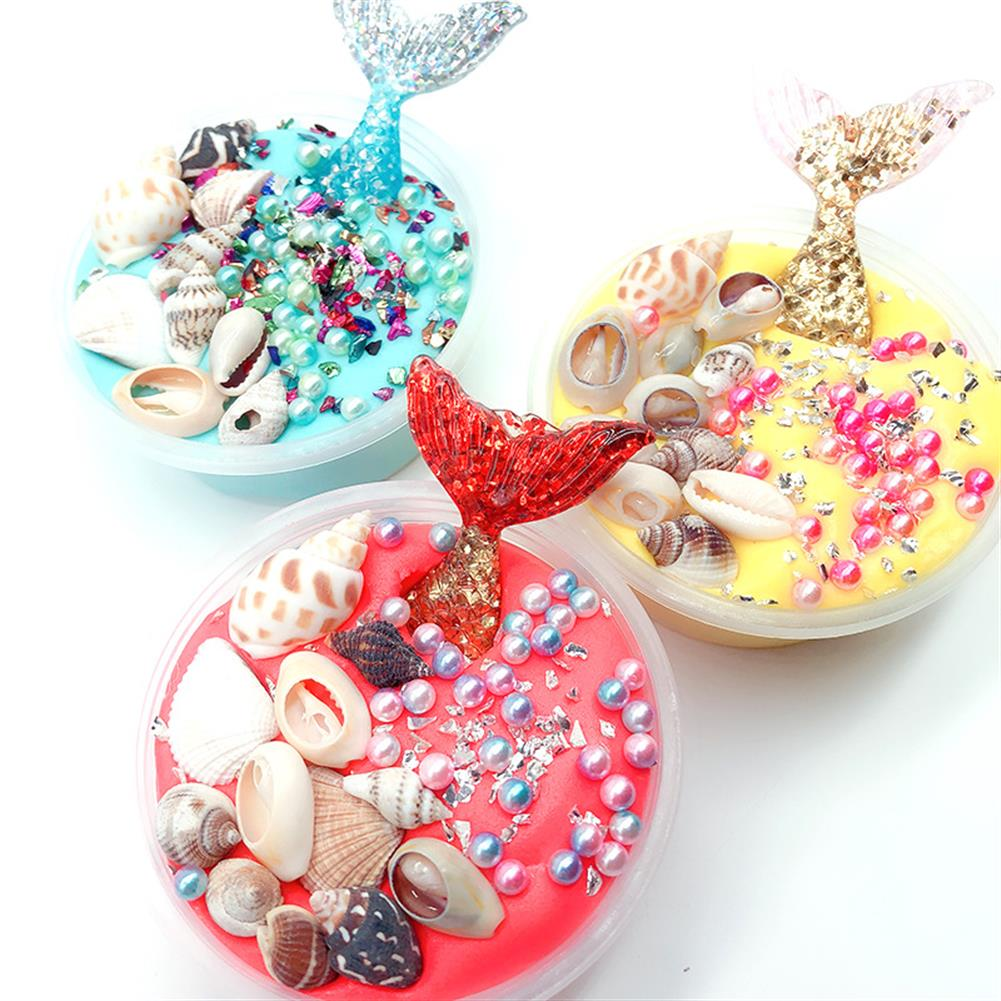 pottery-clay-tools 100ML Mermaid Slime Crystal Mud Cotton Fishtail Gift Stress Reliever HOB1400810