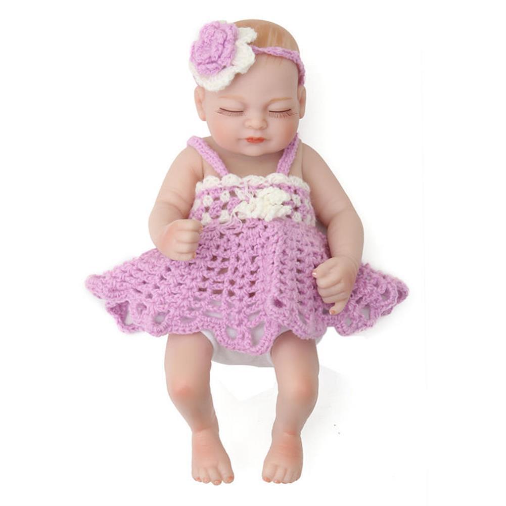 dolls-action-figure 11'' Reborn Doll Newborn Handmade Lifelike Soft Silicone Realistic Christmas Gifts HOB1407013