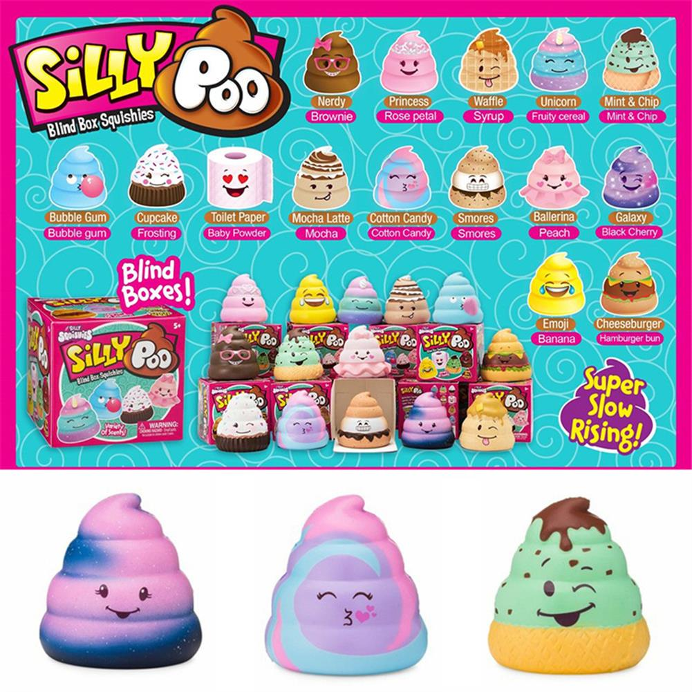 squishy-toys 5PCS Silly Poo Squishy Blind Box 7*6.5*6.5CM Licensed Slow Rising with Packaging HOB1407052