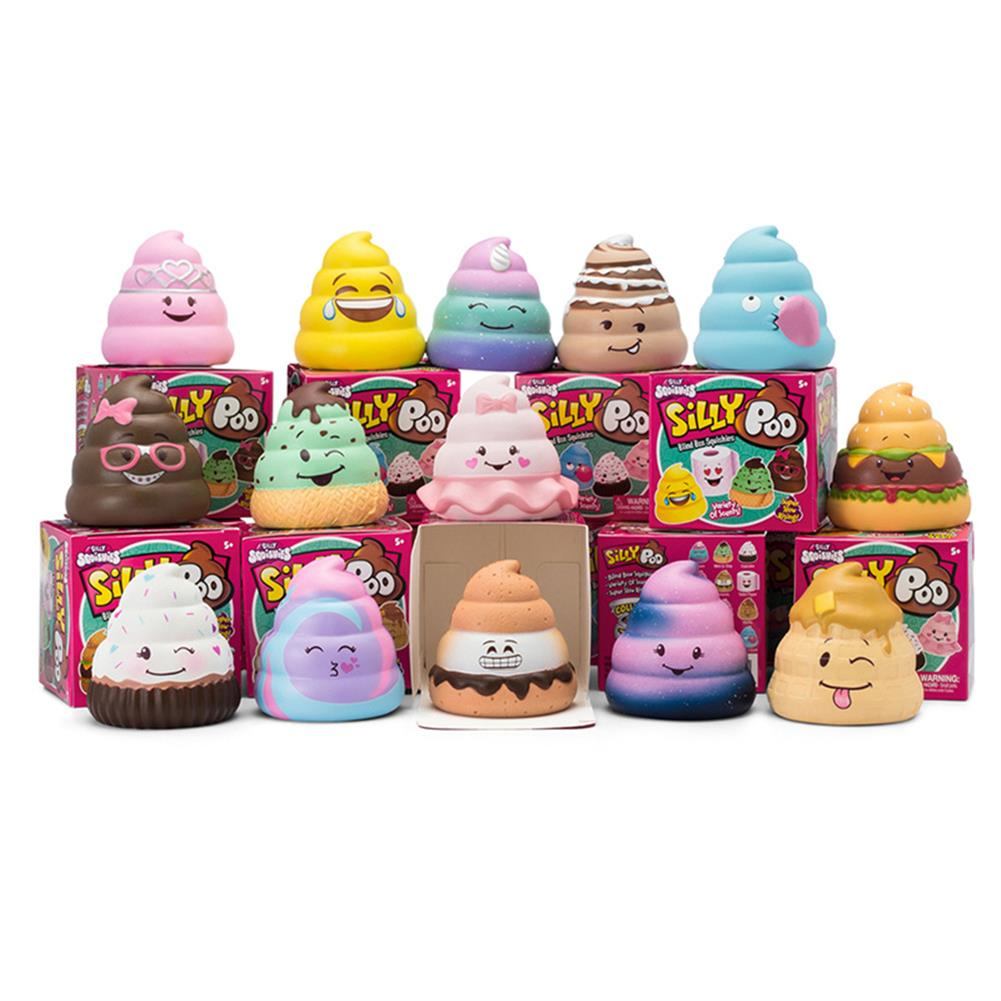 squishy-toys 5PCS Silly Poo Squishy Blind Box 7*6.5*6.5CM Licensed Slow Rising with Packaging HOB1407052 1