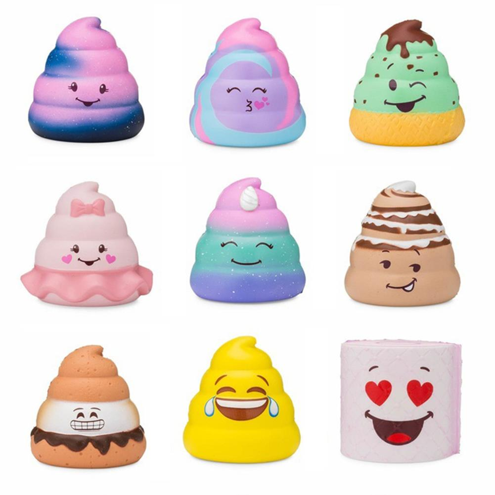 squishy-toys 5PCS Silly Poo Squishy Blind Box 7*6.5*6.5CM Licensed Slow Rising with Packaging HOB1407052 2