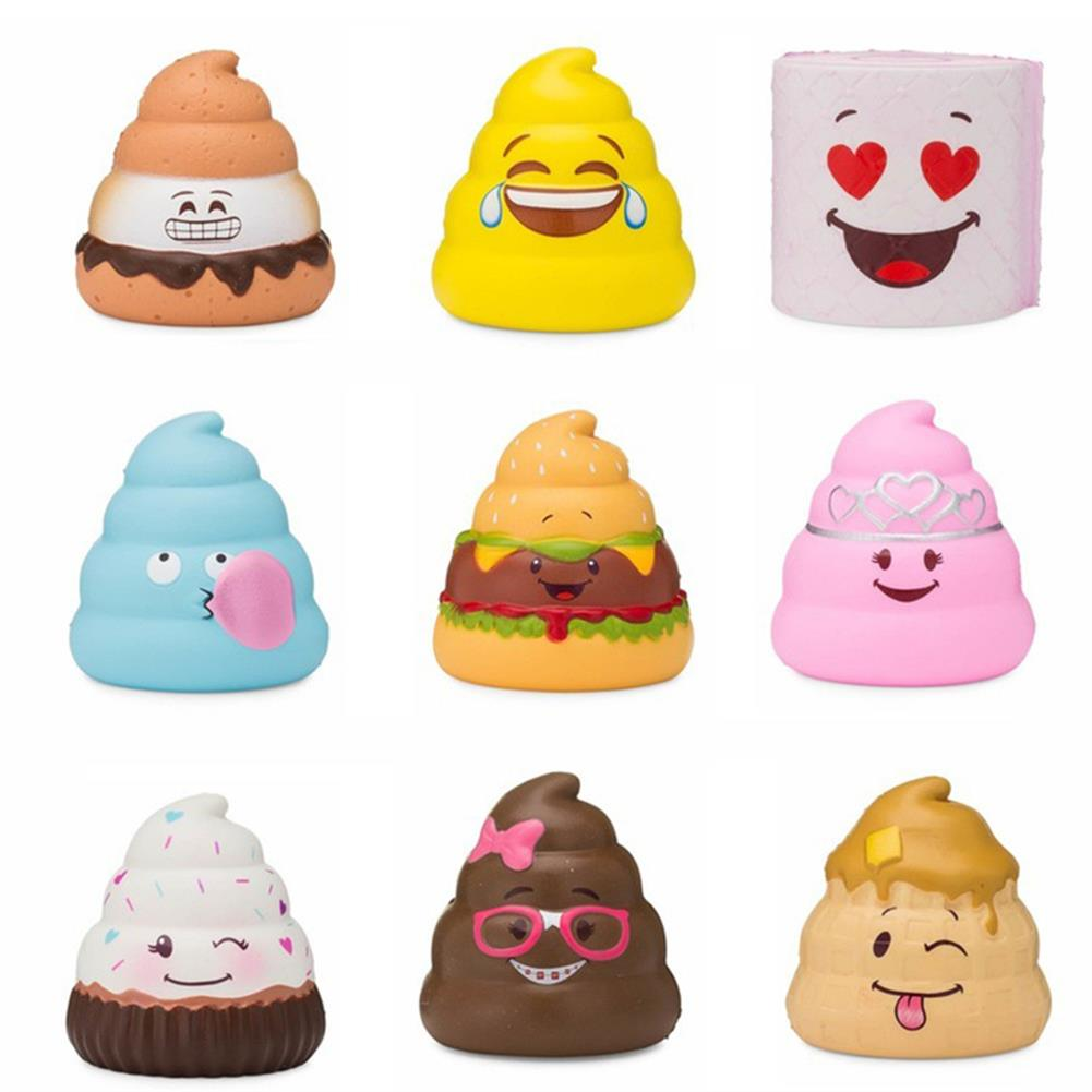 squishy-toys 5PCS Silly Poo Squishy Blind Box 7*6.5*6.5CM Licensed Slow Rising with Packaging HOB1407052 3
