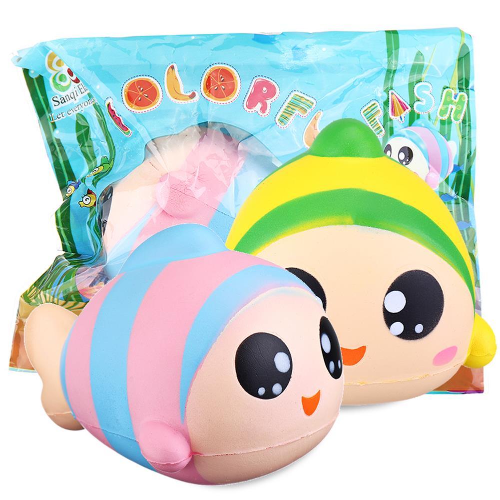 squishy-toys Sanqi Elan 13cm Rainbow Fish Squishy Slow Rising Toy with Original Packing HOB1407973