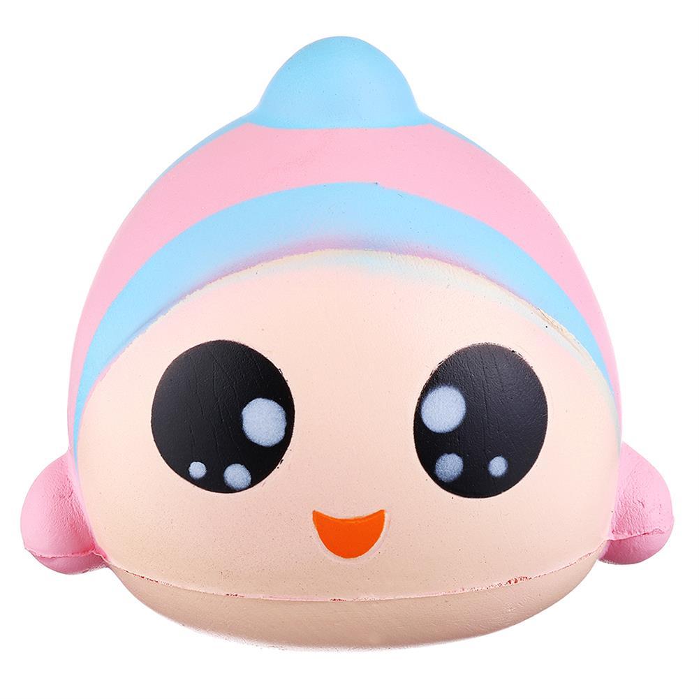 squishy-toys Sanqi Elan 13cm Rainbow Fish Squishy Slow Rising Toy with Original Packing HOB1407973 2