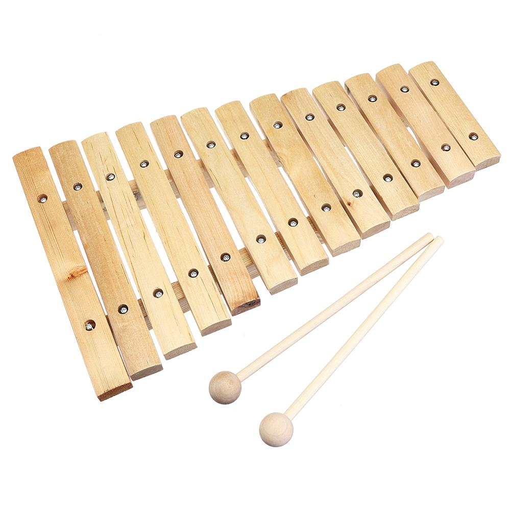 folk-world-percussion 13 Tone Wooden Xylophone Musical Piano instrument for Children Kid HOB1409055