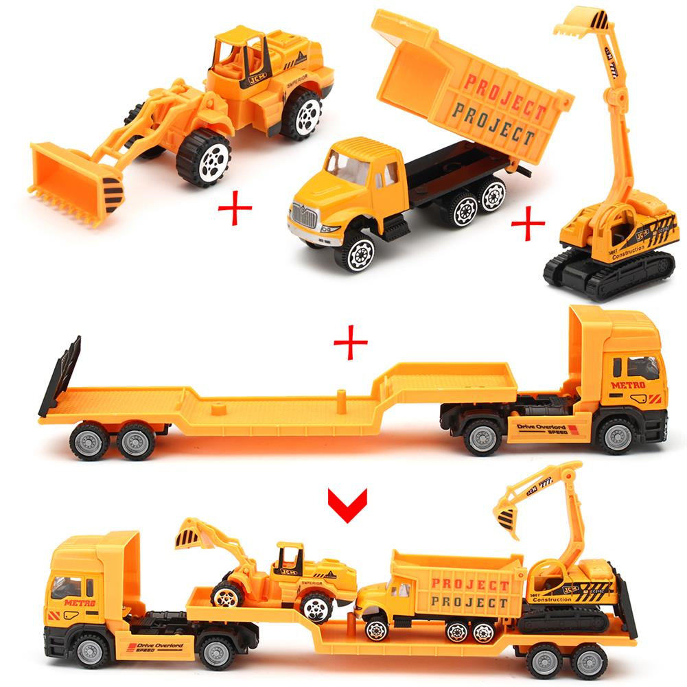 diecasts-model-toys 4in1 Kids Toy Recovery Vehicle Tow Truck Lorry Low Loader Diecast Model Toys Construction Xmas HOB1414450 1