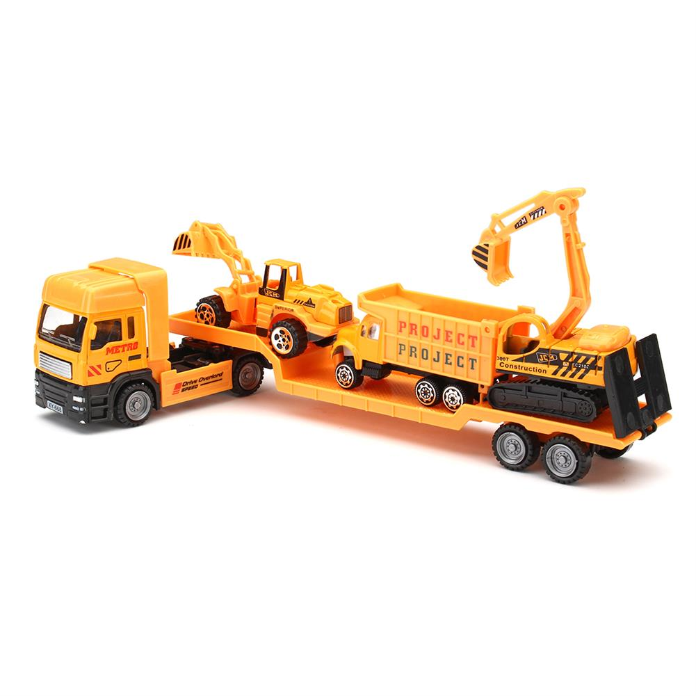 diecasts-model-toys 4in1 Kids Toy Recovery Vehicle Tow Truck Lorry Low Loader Diecast Model Toys Construction Xmas HOB1414450 2