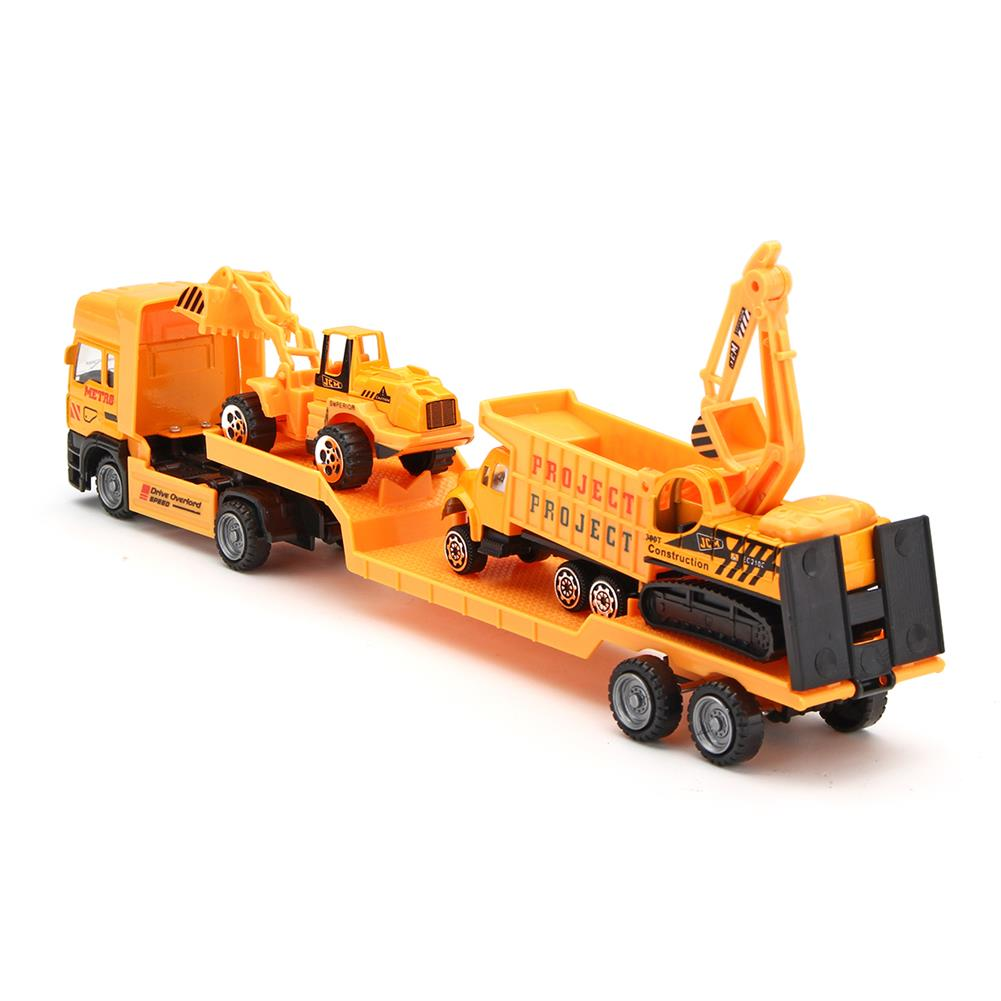 diecasts-model-toys 4in1 Kids Toy Recovery Vehicle Tow Truck Lorry Low Loader Diecast Model Toys Construction Xmas HOB1414450 3