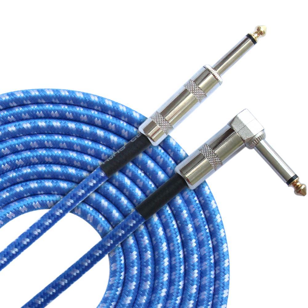 guitar-accessories FLGW-24 3m Guitar Cable 6.5mm Jack Audio Cable for Guitar Mixer Amplifier Bass HOB1417140 3