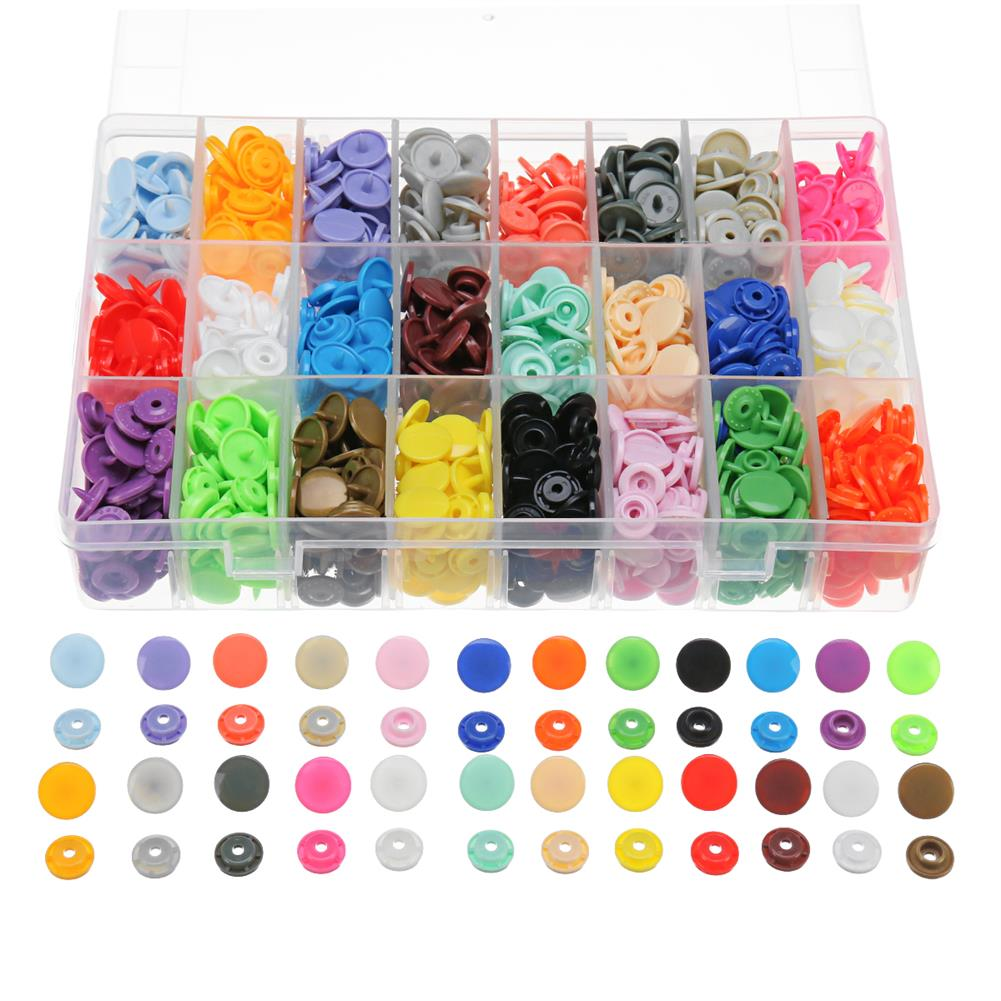 tools-bags-storage 360 Set/Lot 24 Color T5 Resin Snap Plastic Buttons installation Tools Sihetun Buckle HOB1420003
