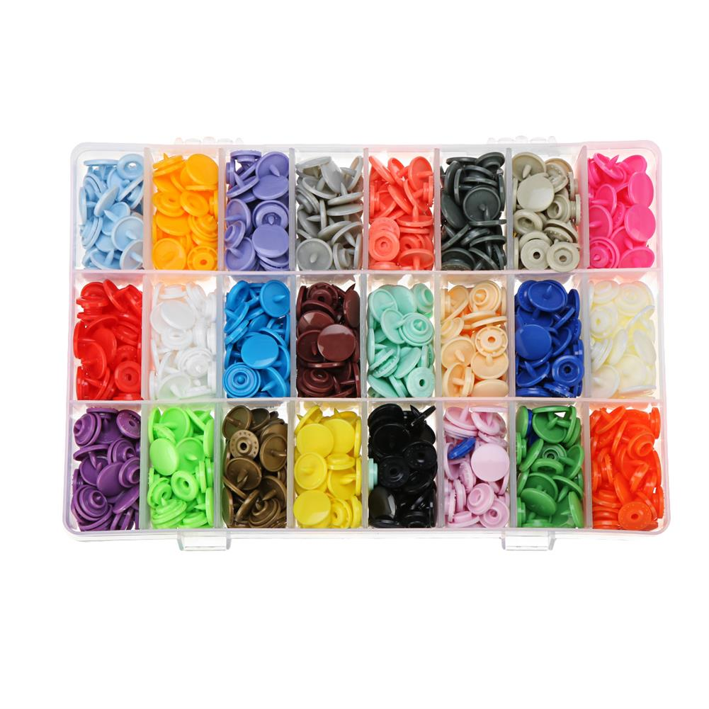 tools-bags-storage 360 Set/Lot 24 Color T5 Resin Snap Plastic Buttons installation Tools Sihetun Buckle HOB1420003 1