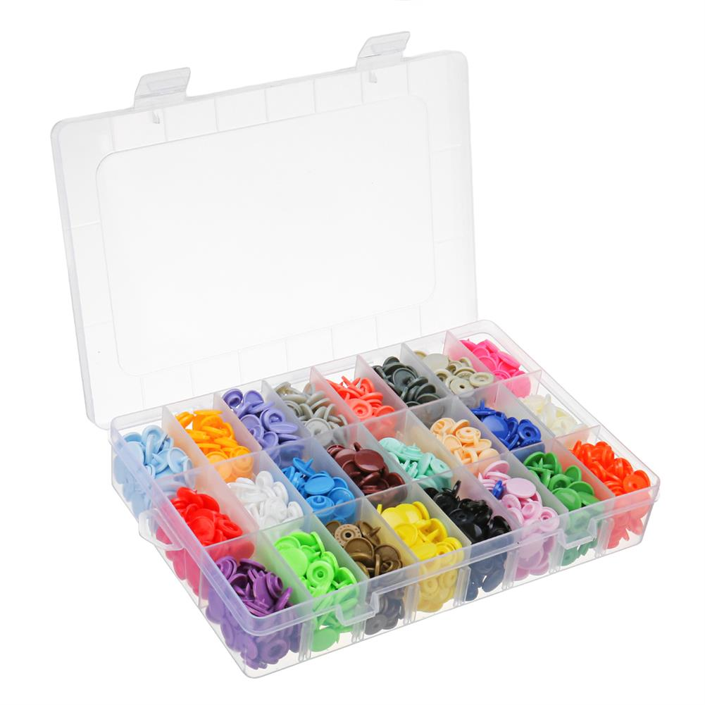 tools-bags-storage 360 Set/Lot 24 Color T5 Resin Snap Plastic Buttons installation Tools Sihetun Buckle HOB1420003 3