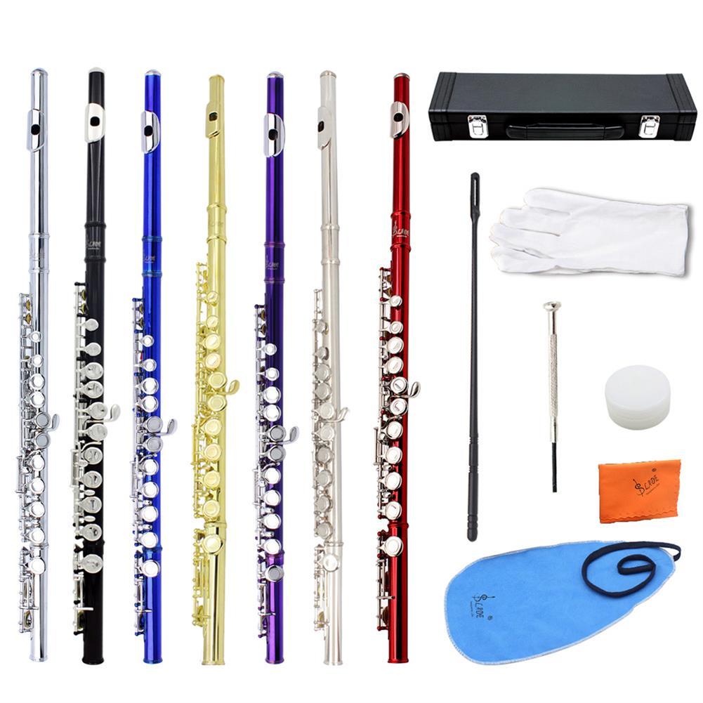 flute SLADE 16 Holes C Key Flute Copper with Cloth Screwdriver Gloves Bag HOB1423141