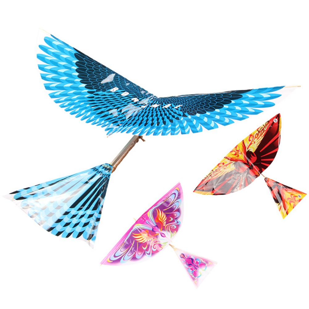 plane-parachute-toys 17.5inches Bionics Eagle Flight Birds Assembly Flapping Wing DIY Model Aircraft Plane Toy HOB1432308