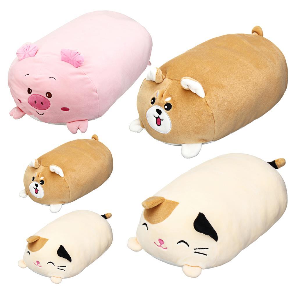 stuffed-plush-toys 30/60cm Chubby Cute Soft Animal Cartoon Cushion Stuffed Plush Toy Stuffed Puppy Kitty Pillow HOB1434473