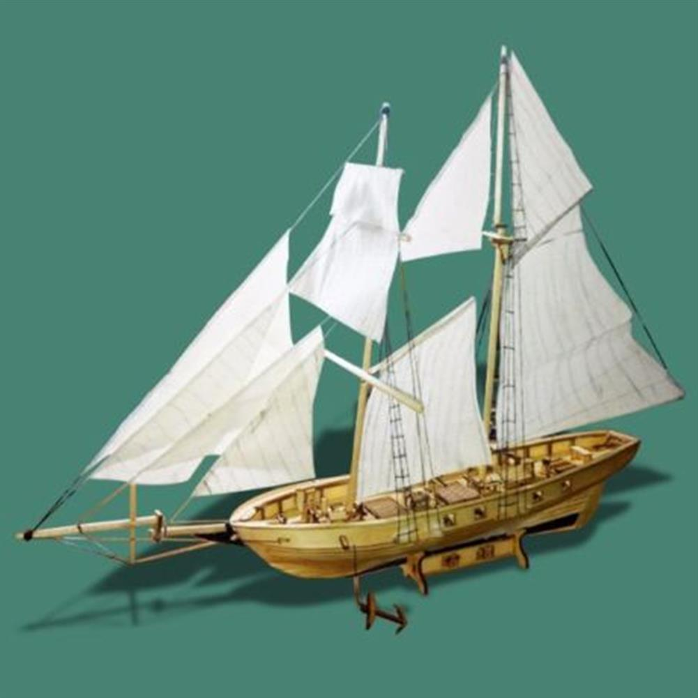 puzzle-game-toys 1:130 Scale Sailing Boats Model Assembly Wooden Sail Boat Home Decorations HOB1441009