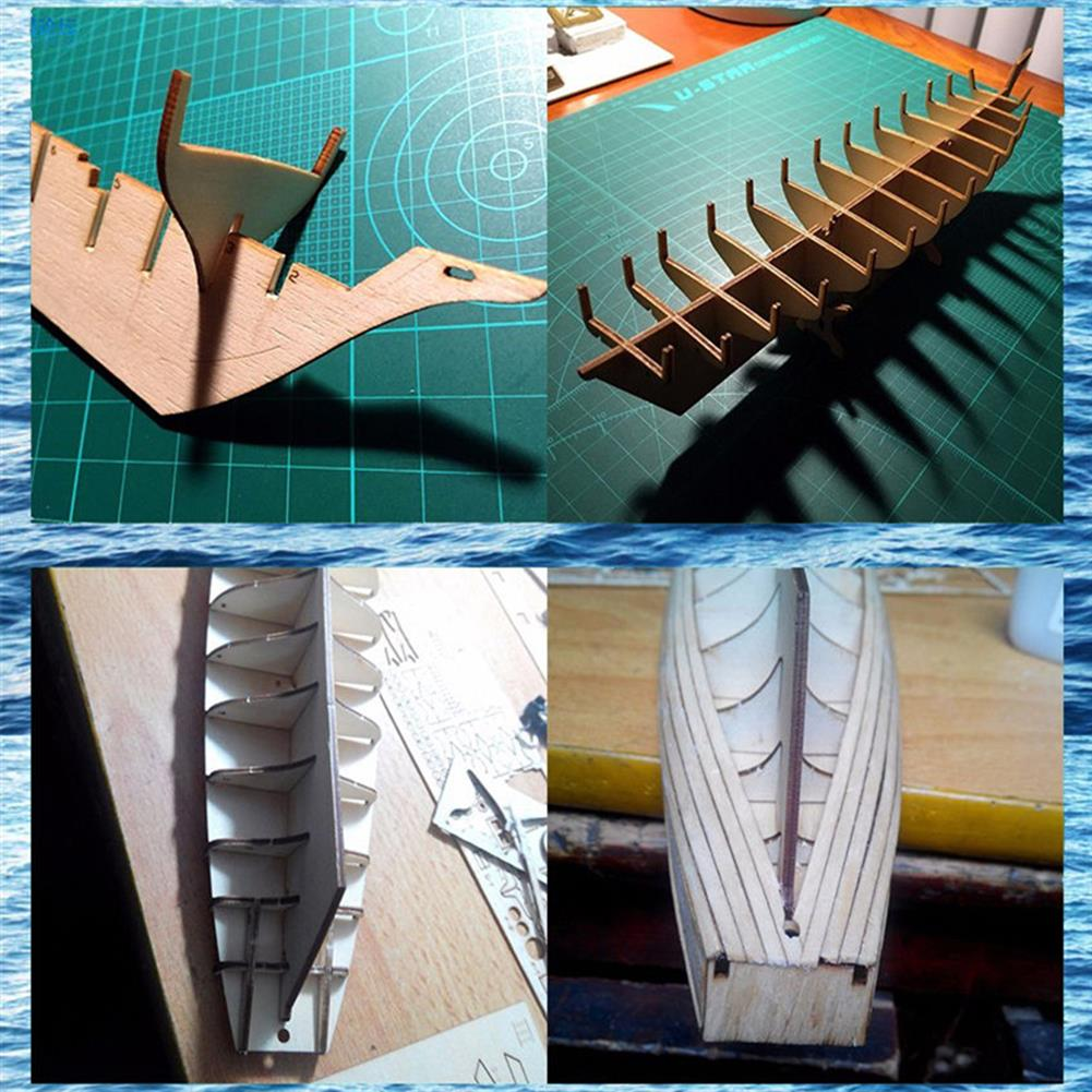 puzzle-game-toys 1:130 Scale Sailing Boats Model Assembly Wooden Sail Boat Home Decorations HOB1441009 1