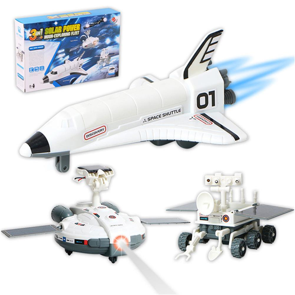 solar-powered-toys Cute Sunlight STEM 3in1 Solar Powered Toy Moon-Exploration Fleet Gift Toys HOB1441117