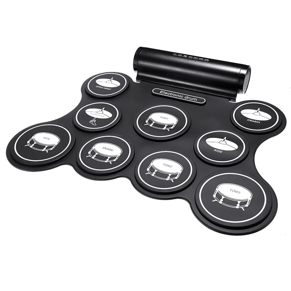 electronic-drums iword G3009L 9 Pad Electronic Roll Up Drum Portable Electronic Drum Kit USB MIDI Drum with Drumsticks Foot Pedals HOB1441930