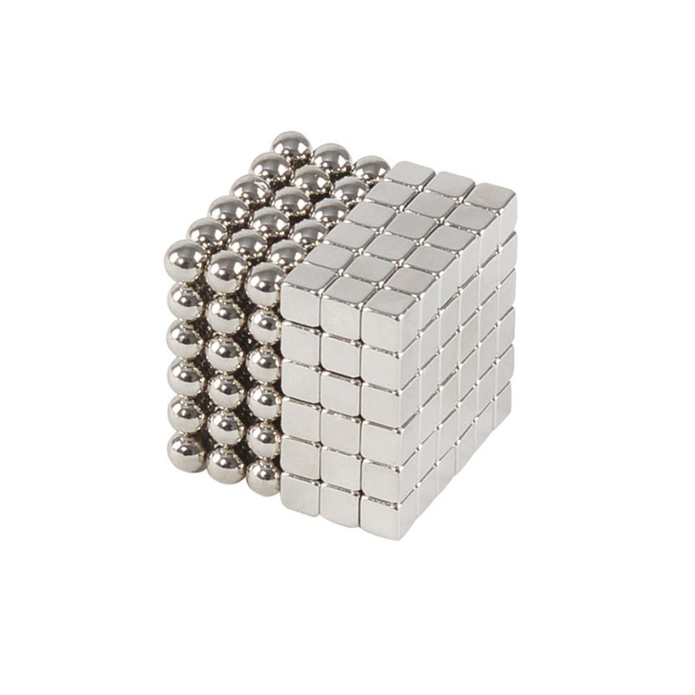 magnetic-toys 5MM 216Pcs Magnetic Buck Ball Silver Color Sphere Cube Iron Beads Balls Puzzle Magnet Toys with Packaging HOB1442051 1