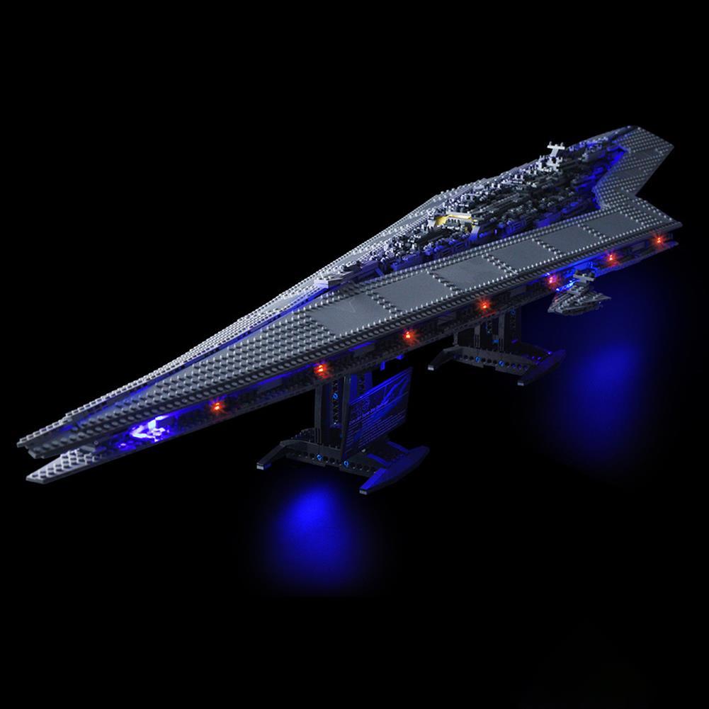 blocks-track-toys LED Light Kit for Lego 10221 Star Wars Super Star Destroyer Building Model Blocks Toys HOB1442838