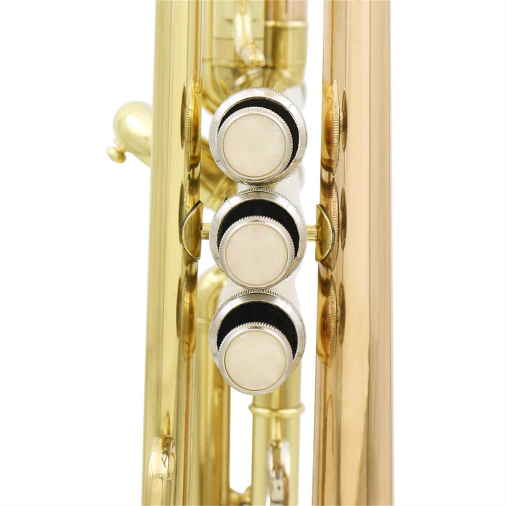 trumpet SLADE Gold Brass Bb Trumpet Kit Phosphorus-copper Trumpet Mouth for Beginners School Band with Carring Case HOB1443273 2