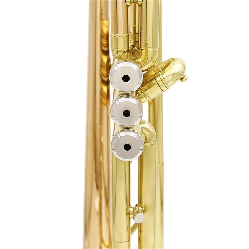 trumpet SLADE Gold Brass Bb Trumpet Kit Phosphorus-copper Trumpet Mouth for Beginners School Band with Carring Case HOB1443273 3