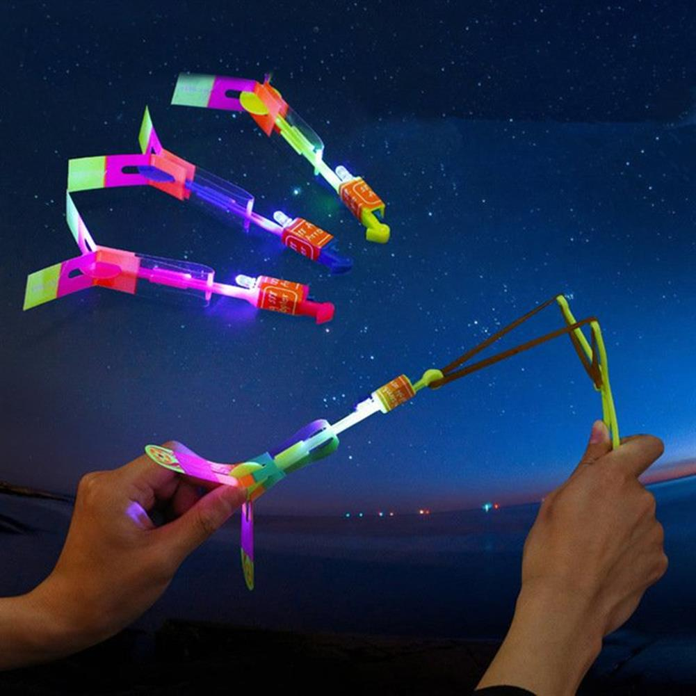 plane-parachute-toys 20pcs Amazing LED Flash Rubber Band Helicopter Plane Toy for Kids HOB1448273