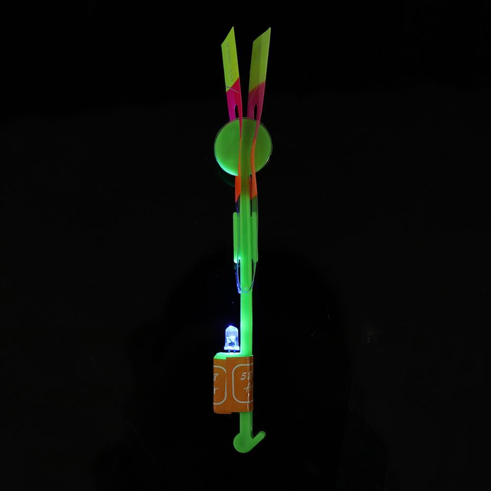 plane-parachute-toys 20pcs Amazing LED Flash Rubber Band Helicopter Plane Toy for Kids HOB1448273 1