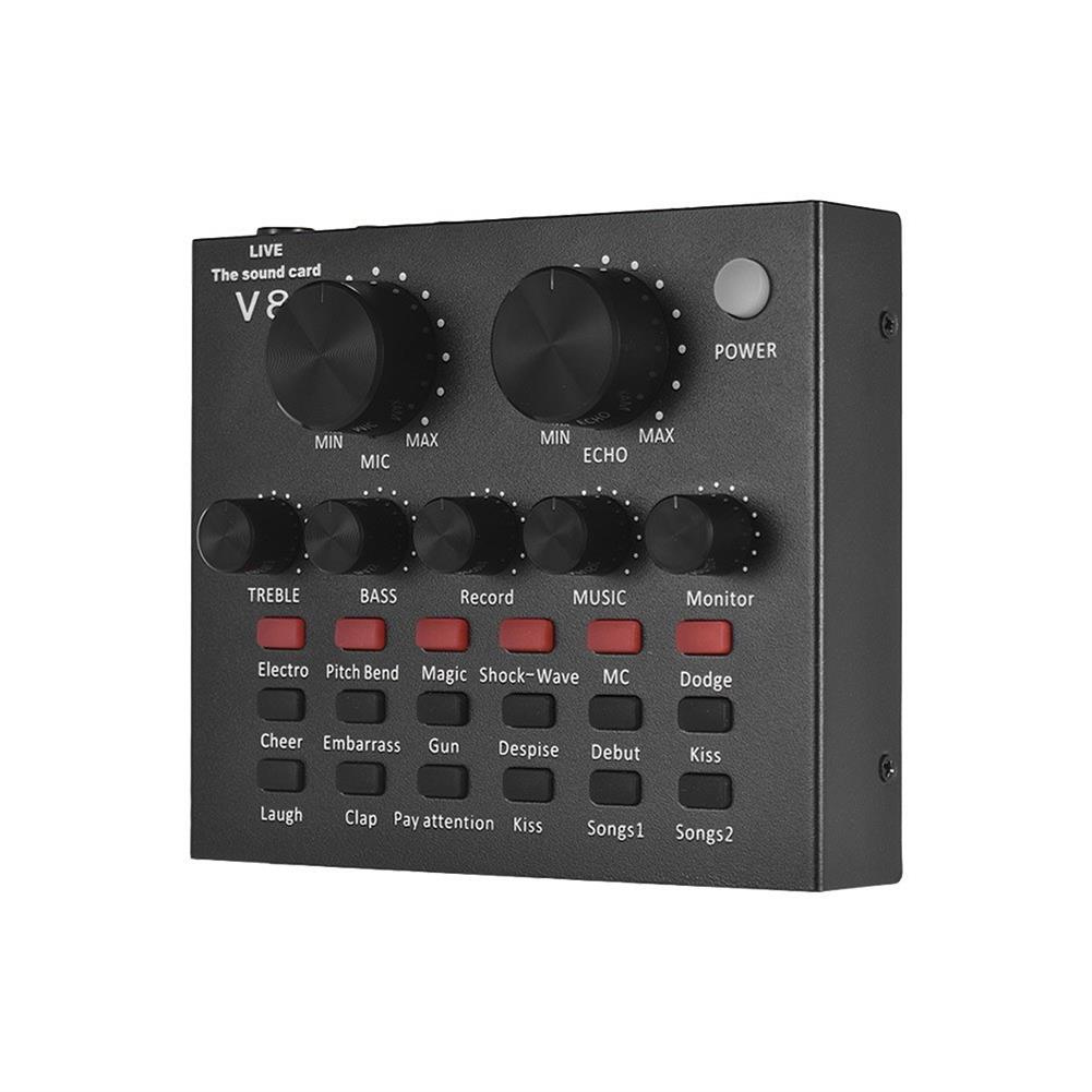 dj-mixers-equipment External Audio Mixer Sound Card USB interface with 6 Sound Modes Multiple Sound Effects HOB1451698 1