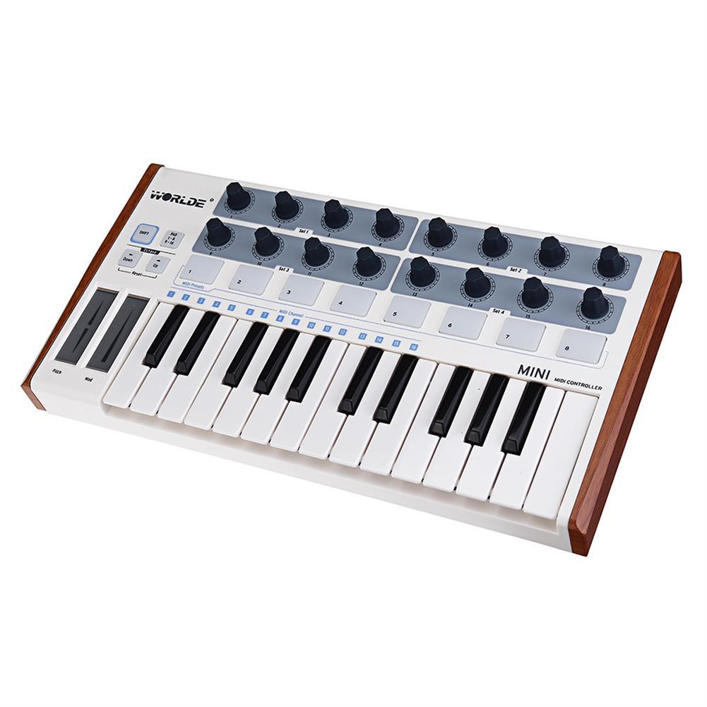 midi-controllers Worlde Professional 25-Key MIDI Keyboard Controller USB MIDI Drum Pad and Ultra-Portable Mini MIDI Controller Electronic Audio HOB1452038 1