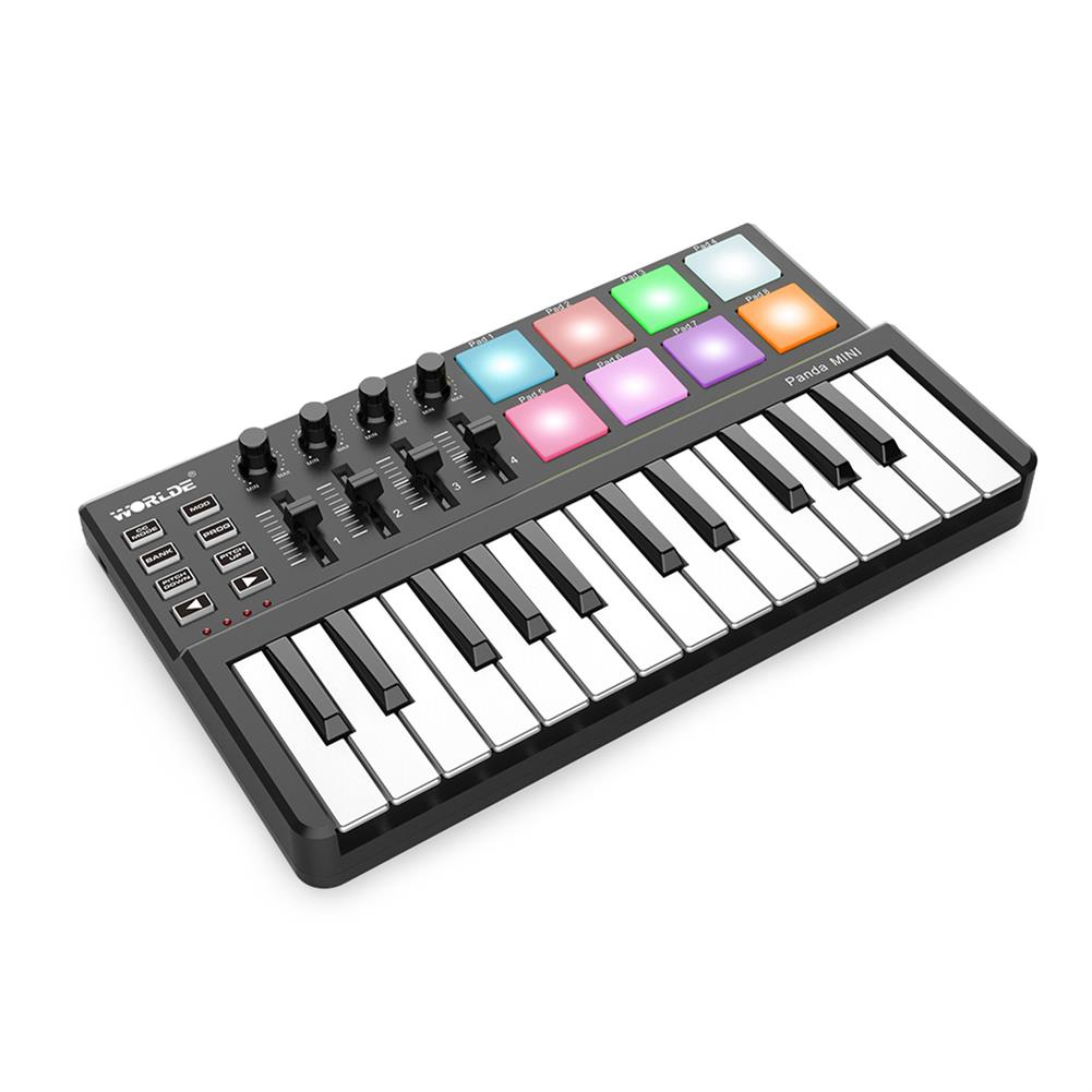 midi-controllers WORLDE Panda Mini Portable 25-Key USB Keyboard Drum Pad and MIDI Controller HOB1452047 1