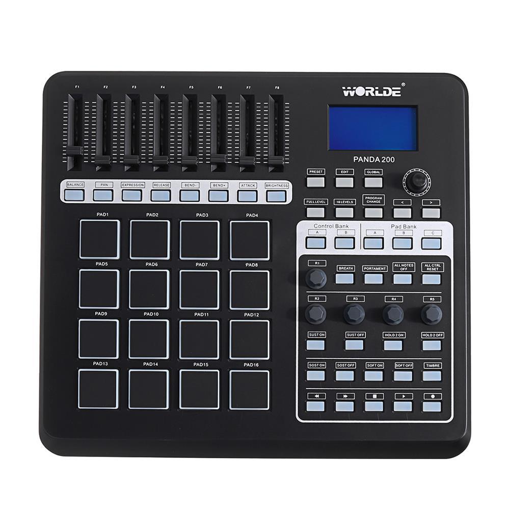 midi-controllers WORLDE PANDA200 Portable 16 Drum Pads USB MIDI Controller Keyboard HOB1452049