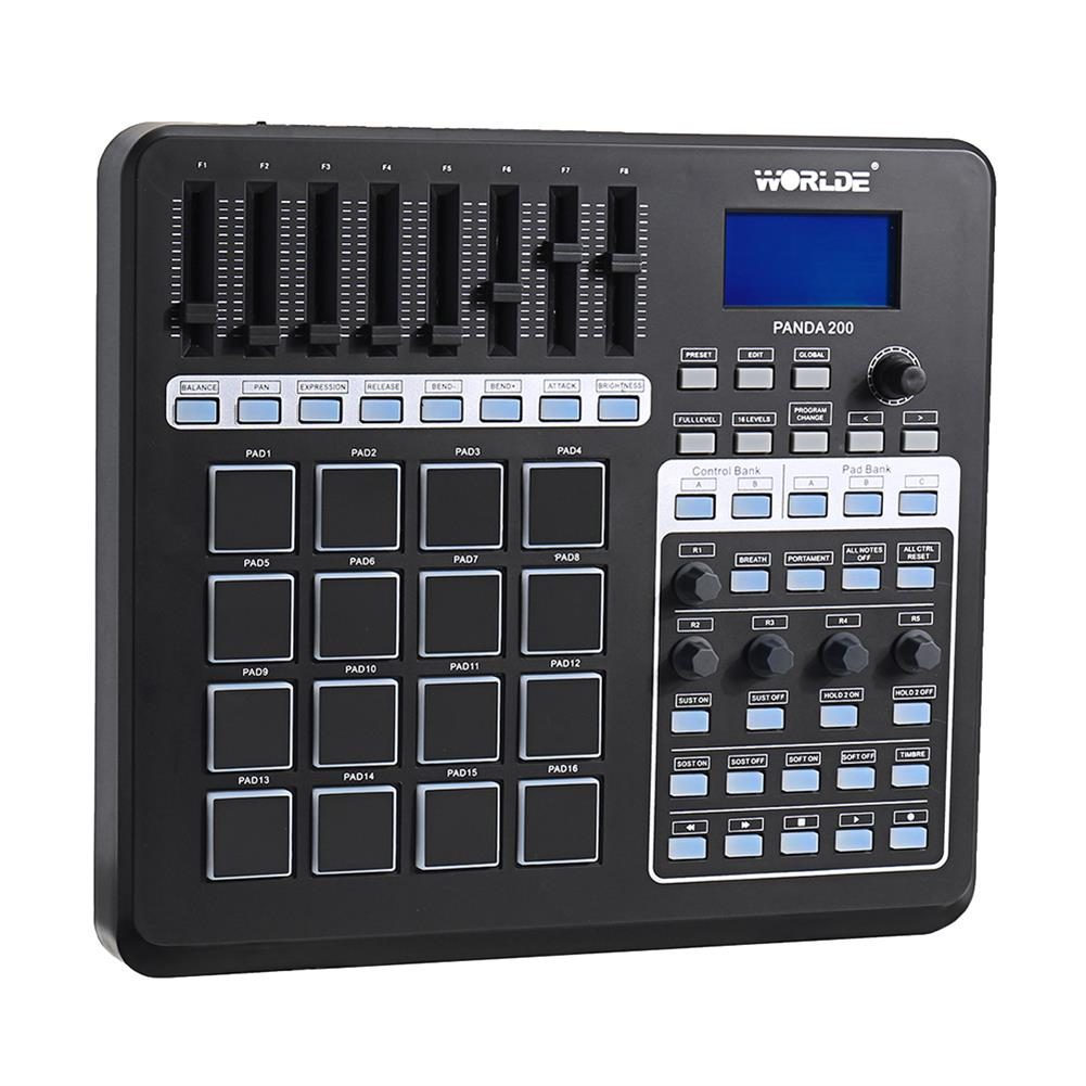 midi-controllers WORLDE PANDA200 Portable 16 Drum Pads USB MIDI Controller Keyboard HOB1452049 1