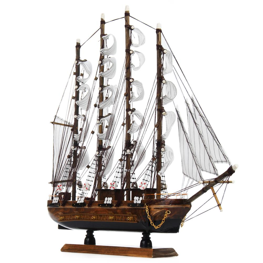 blocks-track-toys 50cm Handmade Wooden Sailing Boats Model Assembly Nautical Ship Schooner Boat Decorations Gift HOB1452230 1