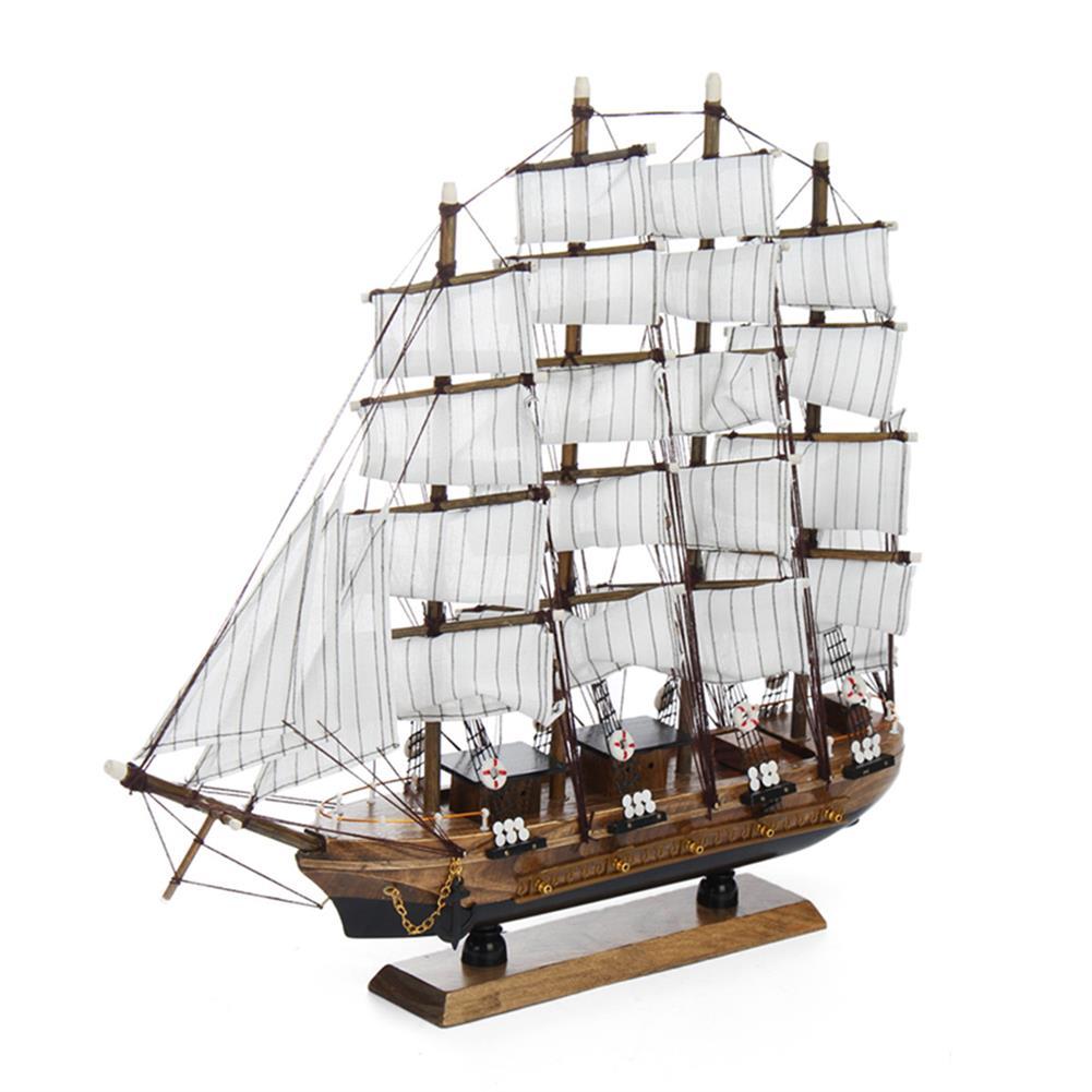 blocks-track-toys 50cm Handmade Wooden Sailing Boats Model Assembly Nautical Ship Schooner Boat Decorations Gift HOB1452230 2